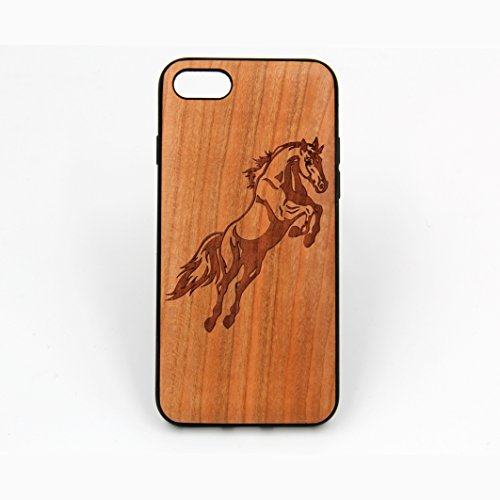 Horse wood cover case for iPhone 7,Cherry wood