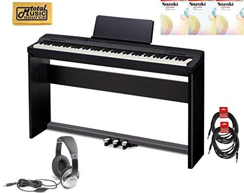 Casio Privia PX-160 STANDARD  Digital Piano Standard TMS Bundle- Black