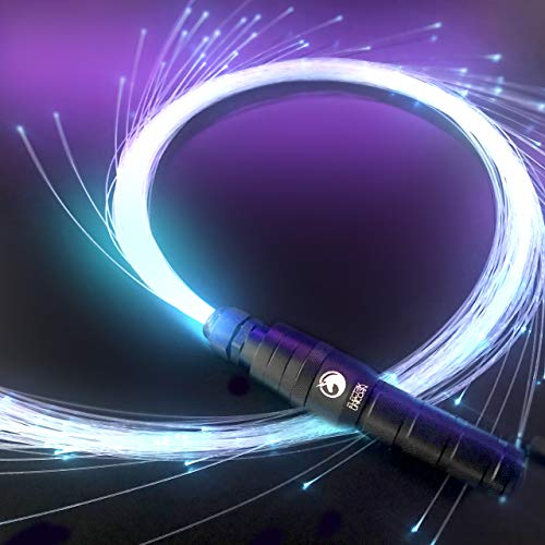 - Electrik Unicorn Sparkle Whip - LED Fiber Optic Whip [ 6 Ft 360° Orbit ] Super Bright Light Up Rave Toy | EDM Pixel Flow Lace Dance Festival