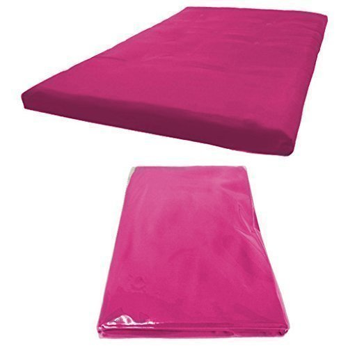 Futon Mattress COVER ONLY, Single 1 Seater in Cerise Pink. Available in 11 Colours Matching Bedroom Sets