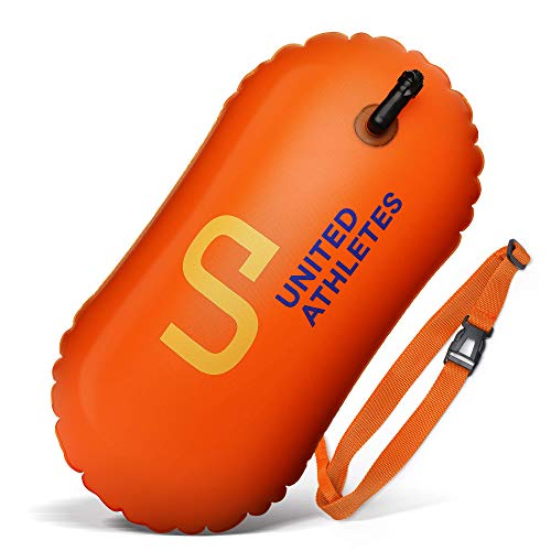 Safety Water - UNITED ATHLETES Swim and Safety Open Water Buoy for Swimmers and Triathletes (18L, Orange)