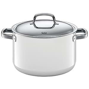 silit fresh 7 quart high casserole with lid polar white wmf kitchen dining. Black Bedroom Furniture Sets. Home Design Ideas