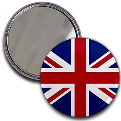 ENGLAND UK UNION JACK World Flag 2.25 inch Glass Pocket Mirror