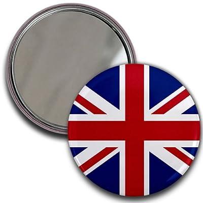 ENGLAND UK UNION JACK World Flag 2.25 inch Glass Pocket Mirror