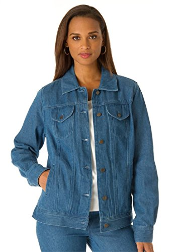 Jessica-London-Womens-Plus-Size-L-Pocket-Classic-Jean-Jacket