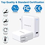 USB C Fast Charger, Knoform 61W USB C Power Adapter for MacBook Pro 2020/2018, MacBook Air, iPad Pro 12.9, Fast Charging with 6.6ft USB C to C Cable, LED Indicator,Type C Charger with Foldable Plug
