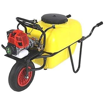 Carretilla 100l para fumigar. Motor 2 tiempos 30bar 10ltr. Bomba de 2 pistones de acero con cabeza cerámica.: Amazon.es: Jardín