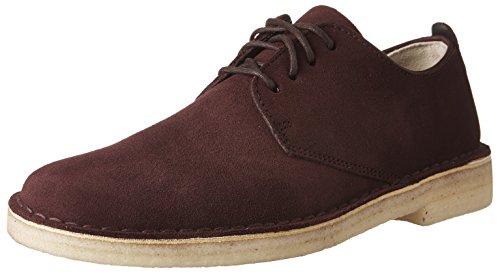 Oxfords Burgundy Shoes (CLARKS Men's Desert London Burgundy Suede Oxford)