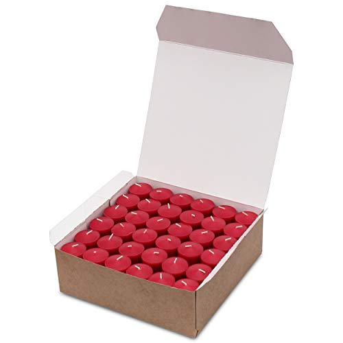 72 Bulk Red Color Votive Candles Decorations for Wedding Holiday Romantic Dinner Restaurant Unscented up to 10 Hour Burn Time (Candle Holders Not Included) Made in USA