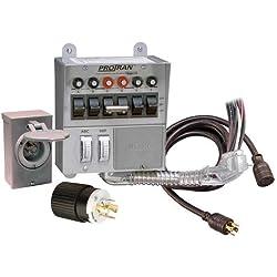 Reliance Controls Corporation 31406CRK 30 Amp 6-circuit Pro/Tran Transfer Switch Kit for Generators (7500 Watts).