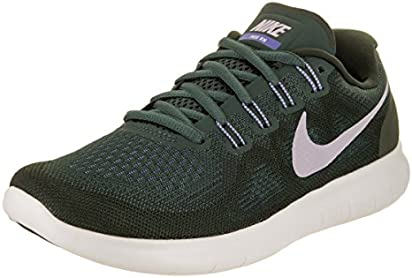 NIKE Women's Free Rn 2017 Vintage/Green/Provence/Purple Running Shoe 6.5 Women US