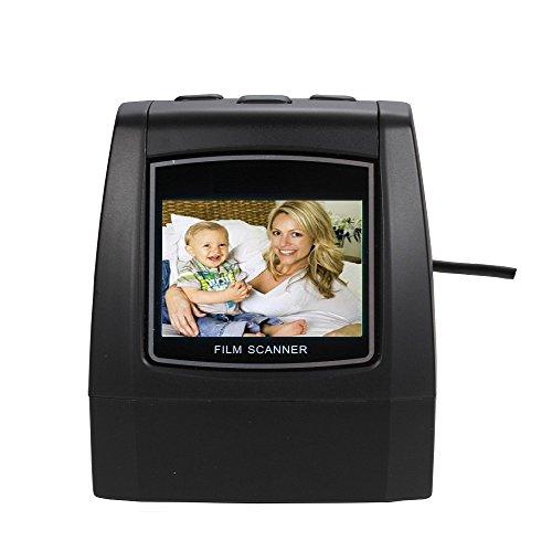 Minidiva Film Slide Scanner, High Speed-Load Adapters for 135/35/126/110/8mm Negative Slides Super Films Scanner and Converter by Minidiva