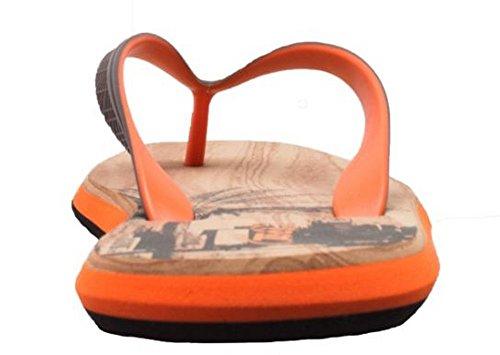 Shaboom Mens Sandalo Infradito Comfort Doppia Densità Marrone / Arancio