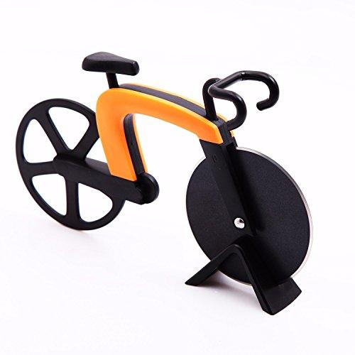 GA Homefavor Fahrrad Pizzaschneider , Klingen aus Rostfreiem Stahl mit Antihaft -Beschichtung