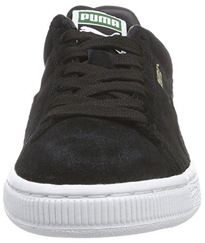 Daim Classique + Pumas, Chaussures De Sport Unisexe Erwachsene Schwarz (blk / Gld / Wht 87blk / Gld / Blc 87)