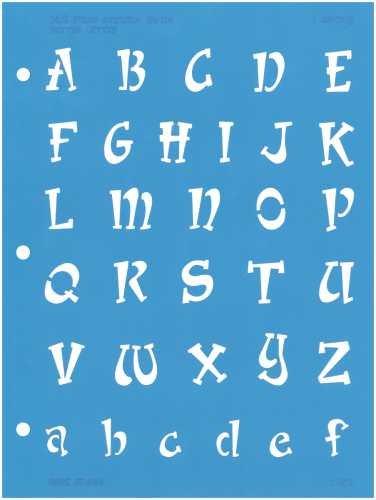 C-THRU Deja Views Better Letter 1 Inch Templates, Whimsy