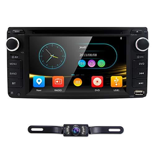 hizpo Universal Car DVD Player for Toyota Camry Corolla RAV4 4Runner Hilux Tundra Celica Auris Radio 2 Din 6.2 Inch in Dash GPS Sat Navigation ()