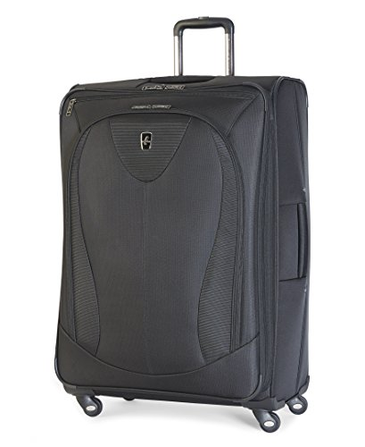 Atlantic Luggage Ultra Lite 3 29 Inch Expandable Spinner, Black, One ()