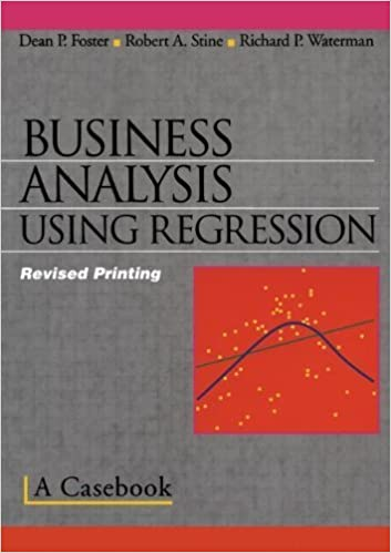 Book Business Analysis Using Regression: A Casebook – July 20, 2001