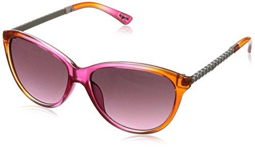 Angel Women's Nixie Cateye Sunglasses,Pink, Orange Crystal Fade & Silver,54.5 - Sunglasses Glory