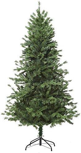 homcom 150cm Albero di Natale, Pino Artificiale Decorazione Natalizia con Rami 440, Base Pieghevole Rimovibile