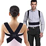 Back Posture Corrector for Women & Men – Tiaoyeer Back Brace & Shoulder Support Trainer for Pain Relief & Improve Bad Slouching Problems - Fully Adjustable Clavicle Medical Belt Straightener (Medium)