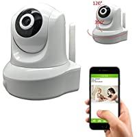 iSmart WiFi 720P HD IR 2 Pan&Tilt IP Smartphone Security Surveillance Camera with Night Vision and Motion Detect