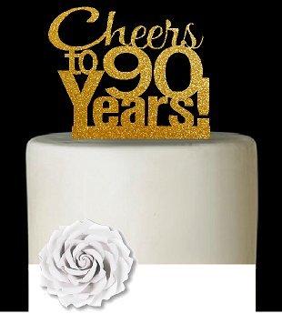 Astonishing 90Th Birthday Cake Toppers Shop 90Th Birthday Cake Toppers Online Personalised Birthday Cards Veneteletsinfo