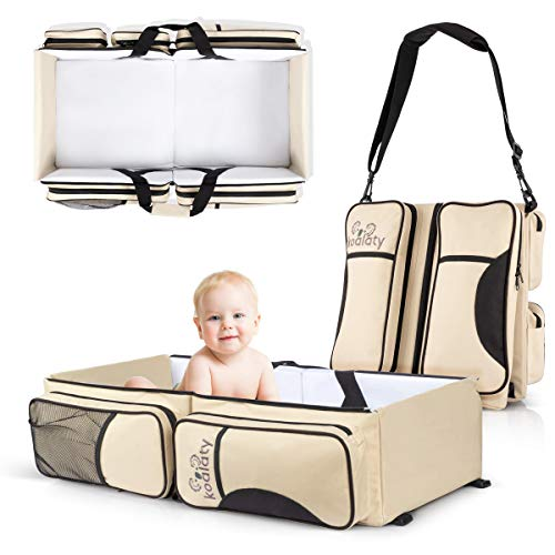 Koalaty 3-in-1 Universal Baby Travel Bag: Portable Bassinet Crib, Changing Station, and Diaper Bag for Newborns or Infants. The Best Baby Shower Gift for New mom and dad. -