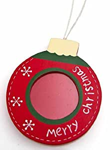 18 Painted Wood Holiday Photo Frame Christmas Ornaments - Let the Kids Fill with Their Favorite Picture!