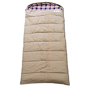 0 Degree Sleeping Bag Canvas And Removable Flannel Left Right XXL