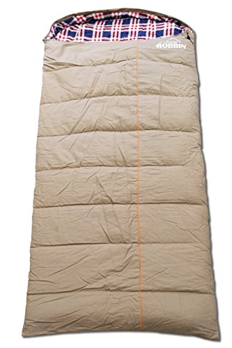 Zero Degree Sleeping Bag, Canvas and Removable Flannel, Left & Right, XXL (Left Zip) (Degree Bag Sleeping Canvas)
