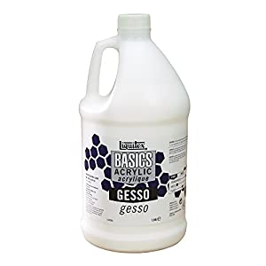 Liquitex BASICS Gesso Surface Prep Medium, 64oz (Half Gallon)