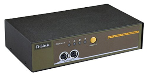D-Link 4-Port KVM Keyboard Video Mouse Switch Hotkey/Autoscan Dkvm-4