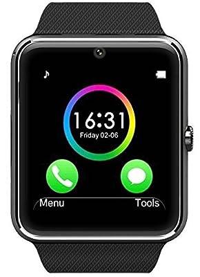 Antimi Sweatproof Smart Watch Phone for Android HTC Sony Samsung LG Google Pixel /Pixel and iPhone 5 5S 6 6 Plus 7 Smartphones Black
