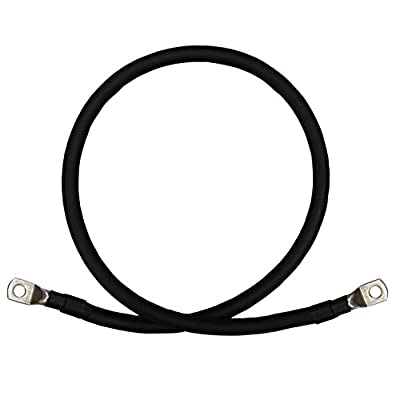 6 AWG Gauge Red + Black Pure Copper Battery Inverter Cables Solar, RV, Car, Boat 12 in 5/16 in Lugs: Car Electronics