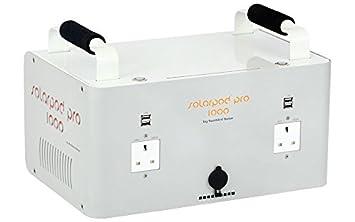 Solarpod 1 K Generador portátil solar Silencioso 1000 W para ordenador portátil, alimentación de emergencia, Camping: Amazon.es: Jardín