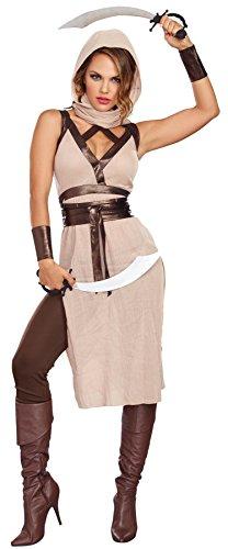 (Dreamgirl Women's Desert Warrior Costume, Camel/Brown,)