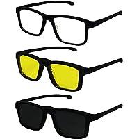 Armação Óculos Clip-on Masculino Original Izaker 707