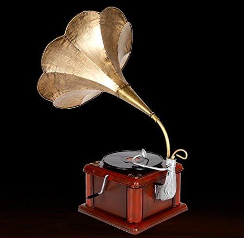 SU@DA Metall-Handwerk-Simulationsmodell Schallplatte Spieler Retro-Metal-Musik zu Hause 30 * 50cm / 12 * 30cm , s