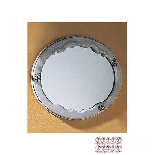 Herbeau 120707 Berain Rose Oval Mirror 1207 (Herbeau Berain Rose)
