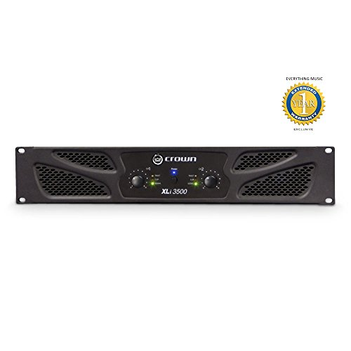 Crown XLi 3500 2-channel, 1350W Power Amplifier with Microfiber and Free EverythingMusic 1 Year Extended Warranty -  XLI3500