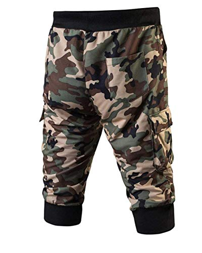 Grün Moda Ragazzi Mimetici Camouflage Da Corti Coulisse Forti Abbigliamento Con Pantaloni Uomini Taglie Uomo Pantaloncini Festivo Allenamento 4OURPWzPa
