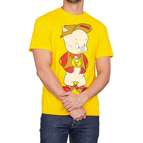 Looney Tunes Hip Porky Pig Front and Back Adult T-Shirt