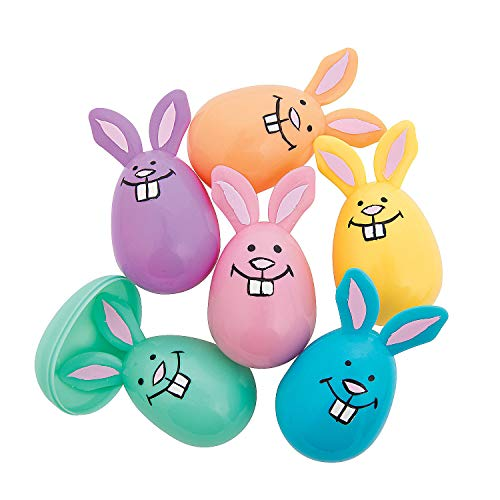Fun Express - Pastel Bunny Shaped Easter Eggs
