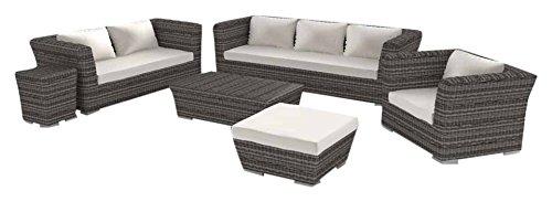 Artelia Rigantona L Luxus Lounge-Set, Gartenmöbel-Set für Garten, Terrasse und Wintergarten, natur