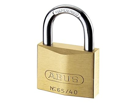 abus 65 40 40mm brass padlock carded amazon com