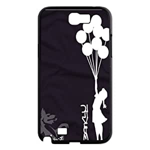 Unique Phone Case Pattern 17Banksy Girl- For Samsung Galaxy Note 2 Case