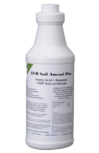 ECO Soil Amend Plus Natural Liquid Seaweed Humic Acid Aerator Quart