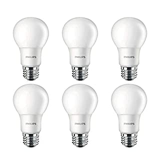 Philips LED Non-Dimmable A19 Frosted Light Bulb: 1500-Lumen, 2700-Kelvin, 14.5-Watt (100-Watt Equivalent), E26 Base, Soft White, 6-Pack, 461995